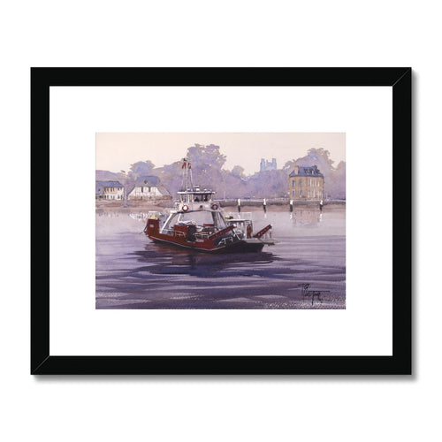 Ferry In Jumièges Framed & Mounted Print
