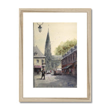 Man With Baguette In Auffay Framed & Mounted Print