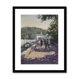 Walking Along The Pier Framed & Mounted Print