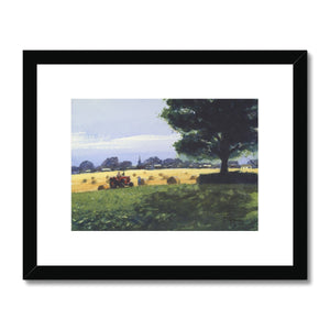 Hayfield Framed & Mounted Print