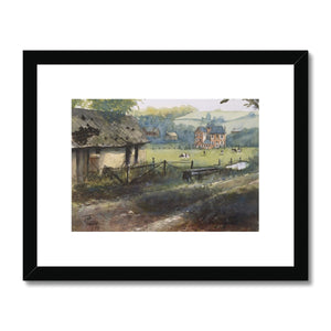 Rural View In Seine Maritime Framed & Mounted Print