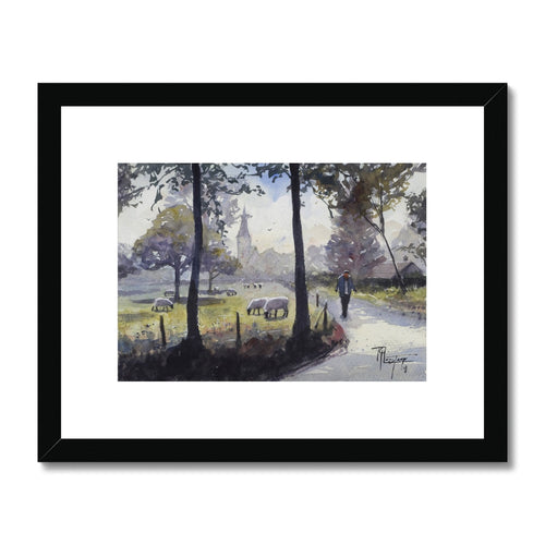 Morning Walk Framed & Mounted Print