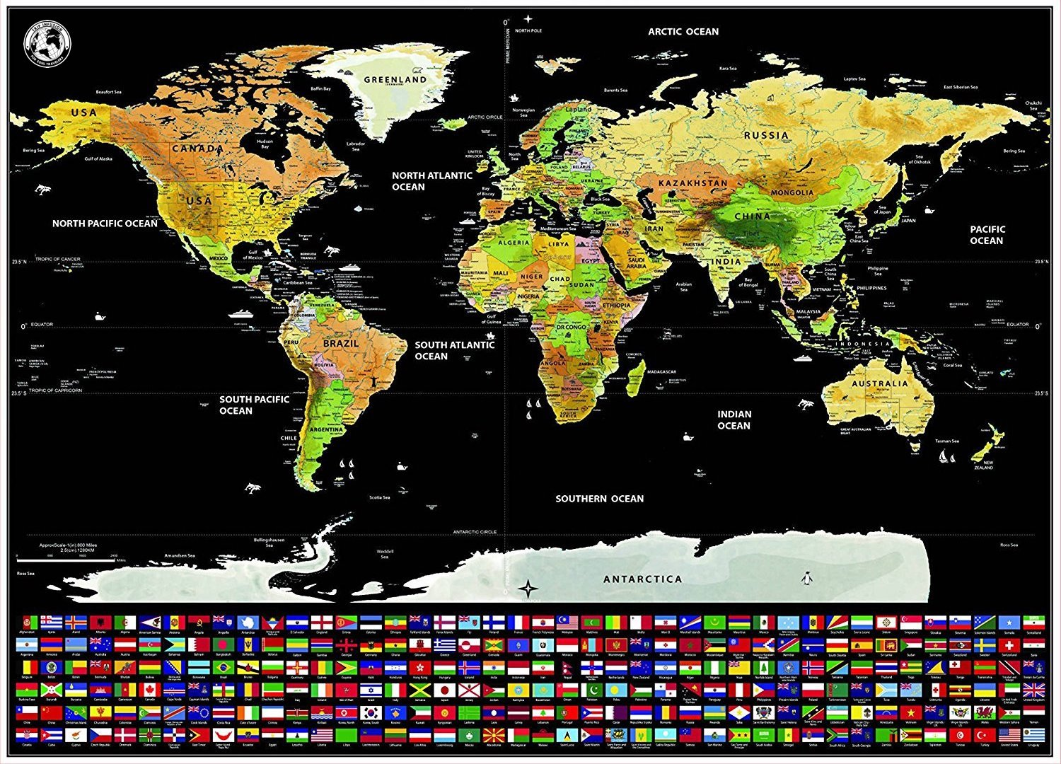 Deluxe scratch off world map with countries flags and accessories deluxe scratch off world map with countries flags and accessories gumiabroncs Choice Image
