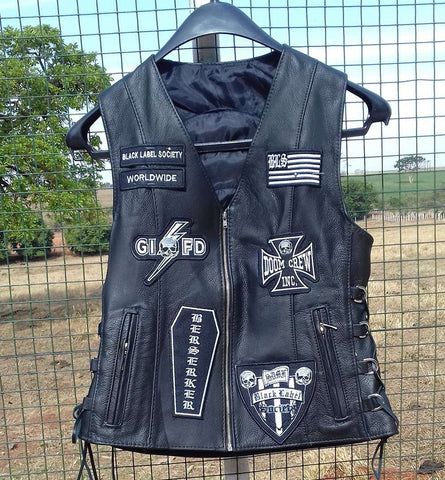 Black Label Society Leather Vest - Metal Gods