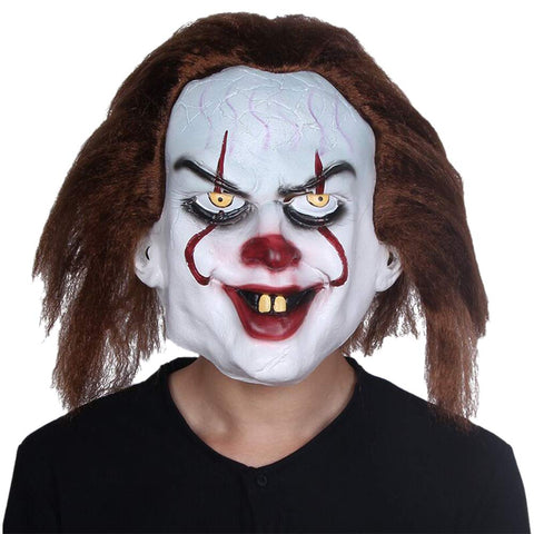 Halloween Masks: Pennywise Cosplay Latex Clown Mask