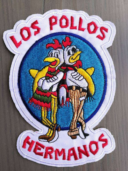"5"" BREAKING BAD TV Series LOS POLLOS HERMANOS Embroidered Iron On Patch - Metal Gods"