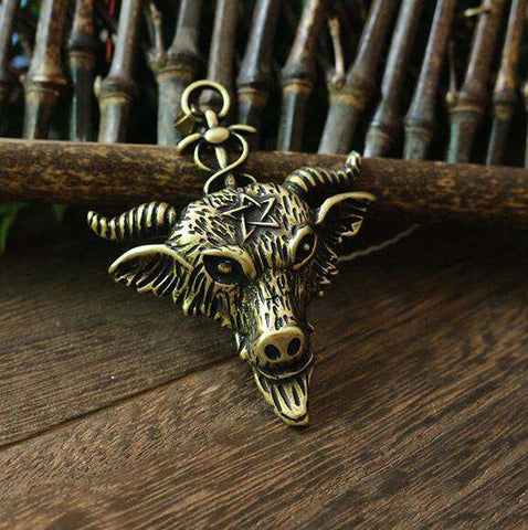 Baphomet Necklace pendant 38mm - Necklace - Metal Gods