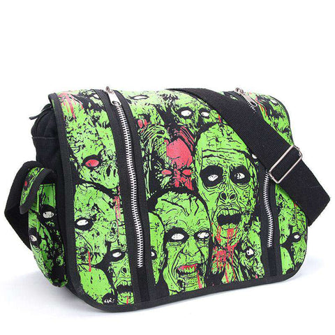 Green Zombie Attack Handbag