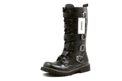 Mid-Calf Motorcycle Men Boots - Boots - Metal Gods
