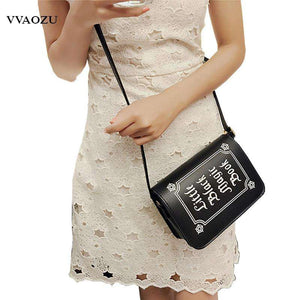 Little Black Magic Book Shoulder Bag