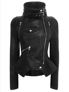 Womens PU Leather Motorcycle Jacket - Jacket - Metal Gods