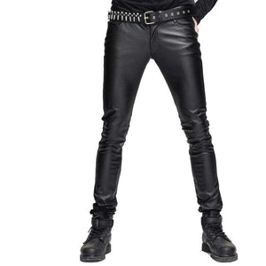 Men PU Leather Skinny Pants - Pant - Metal Gods