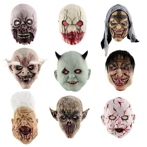 Scary Full face Latex Masks - Mask - Metal Gods