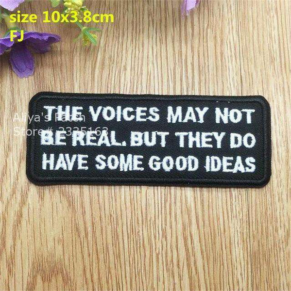 1 pcs words embroidered iron on patches - Patches - Metal Gods