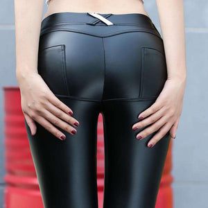 Faux Leather Booty Lifter Legging - Legging - Metal Gods
