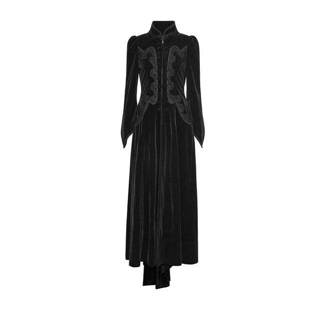 234799969f2 ... PUNK RAVE Gothic Palace Swallow Tail Embroidery Velveteen Long Wool  Blends Coats Vintage Pattern Party Halloween ...