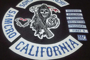 Sons of Anarchy Embroidery Patches for Jacket Full Size and Full Set