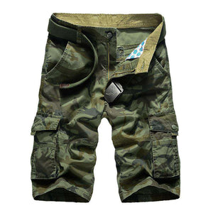 Mens Cotton Loose Military Style Camouflage Cargo Shorts - Short - Metal Gods