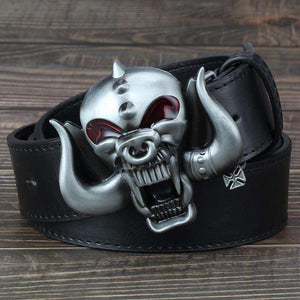 3D Motorhead Longhorns Belt & Metal Buckle