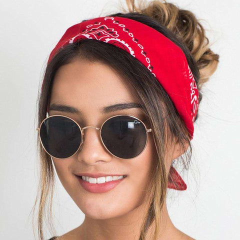 100% Cotton Scarf Bandana Headwear