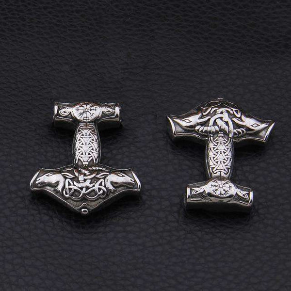 35*40*7 mm Large Norse Viking Thor's Hammer Mjolnir Pendant Necklace - Metal Gods