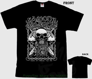 Amon Amarth - vikings bearded skulls T Shirt