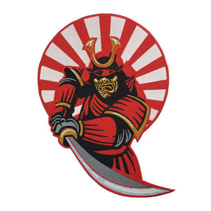 "SAMURAI Embroidered Large Size 10"" Biker Back Patch"