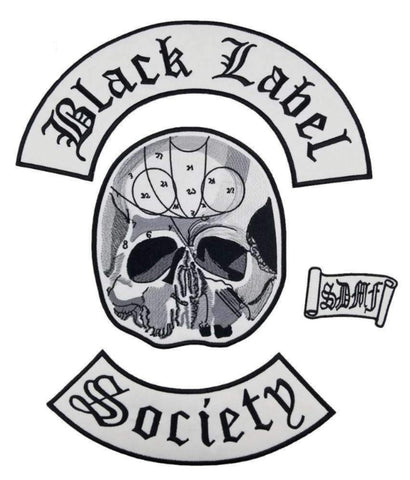 BLACK LABEL SOCIETY Back Patch Set for BACK of BLS VEST - Metal Gods