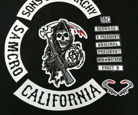 Sons of Anarchy 13 pcs black lettering Patches - Patches - Metal Gods