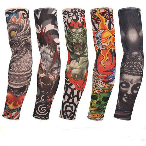 Arm Warmers Sleeve Tattoo Fingerless Gloves - Gloves - Metal Gods