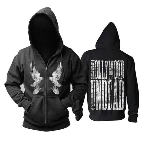 HOLLYWOOD UNDEAD Black  Hoodie - Hoodie - Metal Gods