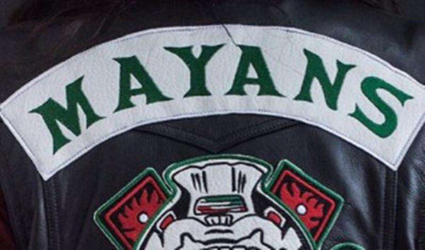 new Mayans MC Vest with green lettering patches - Vest - Metal Gods