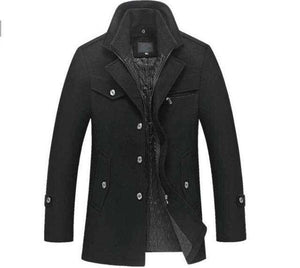 New Winter Wool Coat Slim Fit Mens Jacket