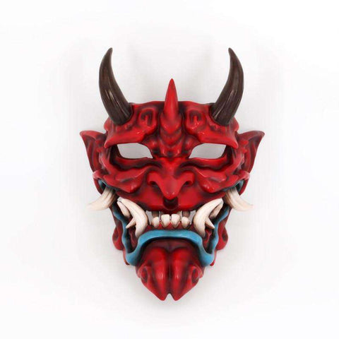 Japanese Demon Face Resin Mask