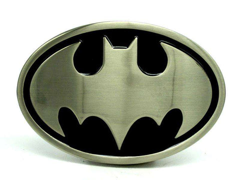Oval Batman Nickle Brushed Belt Buckle - Buckle - Metal Gods