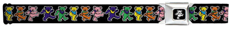 "Grateful Dead Dancing Bears Seatbelt Belt (24-38"")"