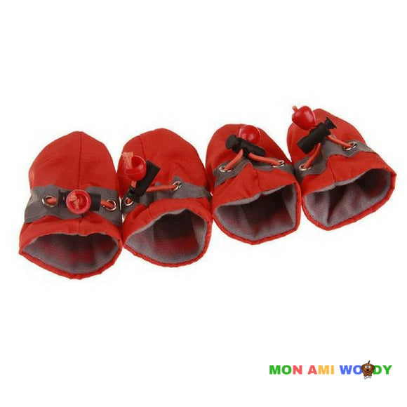 Chaussons antidérapants ajustables pour chien - Mon ami woody