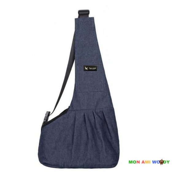Sac bandoulière de transport denim