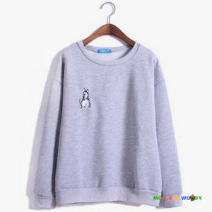 Pull col rond - loup taille S - Mon ami woody