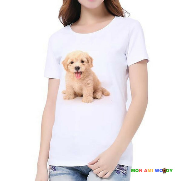 T-shirt femme golden retriever - mon ami Woody