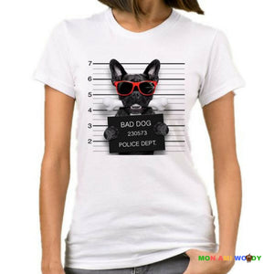 T-shirt bulldog bad dog - mon ami Woody
