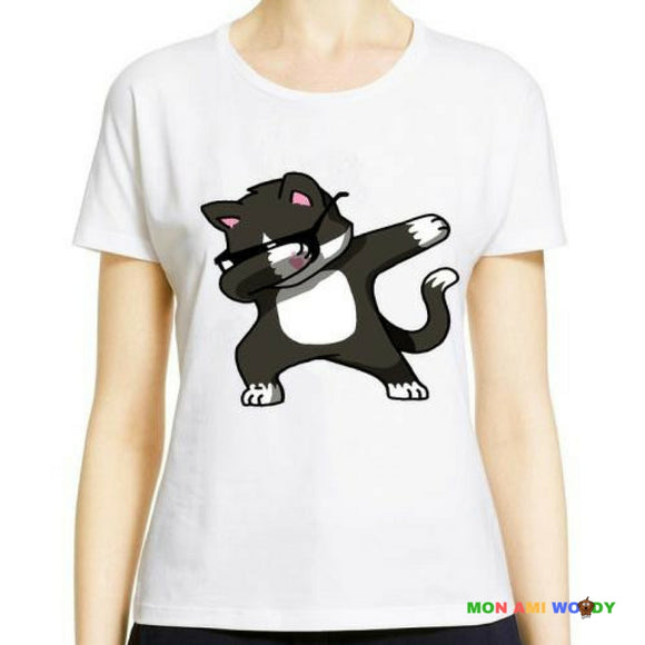 T-shirt femme chat dab - mon ami Woody