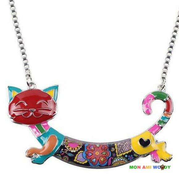 Collier - pendentif chat - Mon ami woody