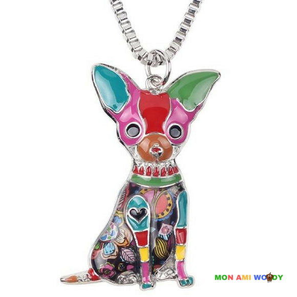 Collier - pendentif Chihuahua - Mon ami woody