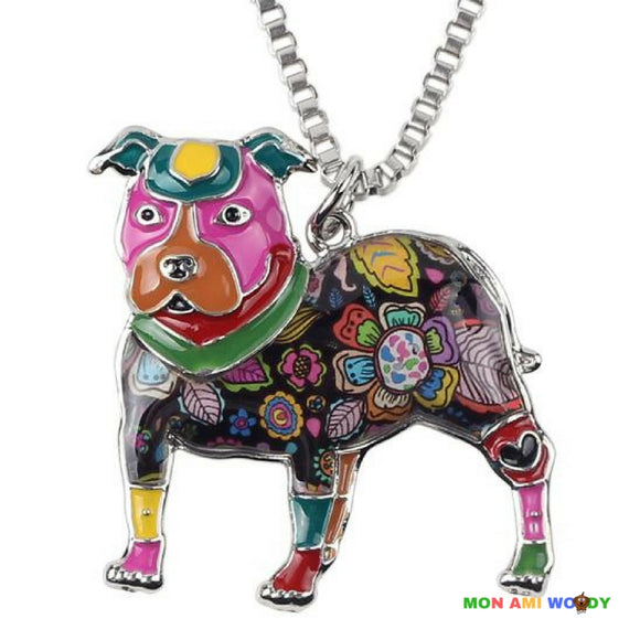 Collier - pendentif Pit bull - Mon ami woody
