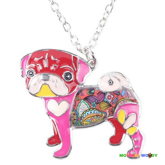 Collier - pendentif Bouledogue - Mon ami woody