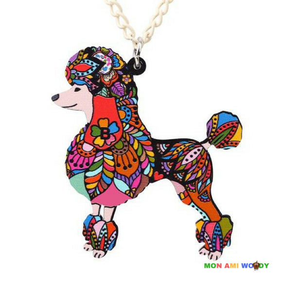 Collier - pendentif Caniche royale - Mon ami woody