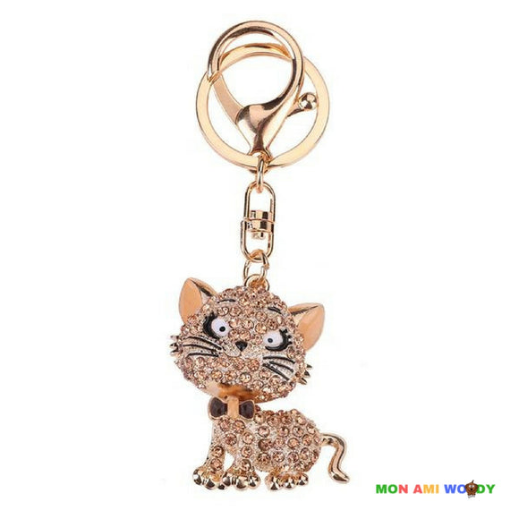 Porte-clef - Chat strass