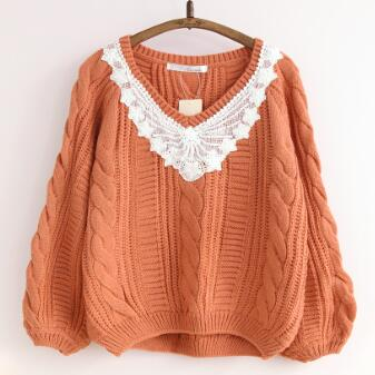 Vintage crochet embroidery jumper