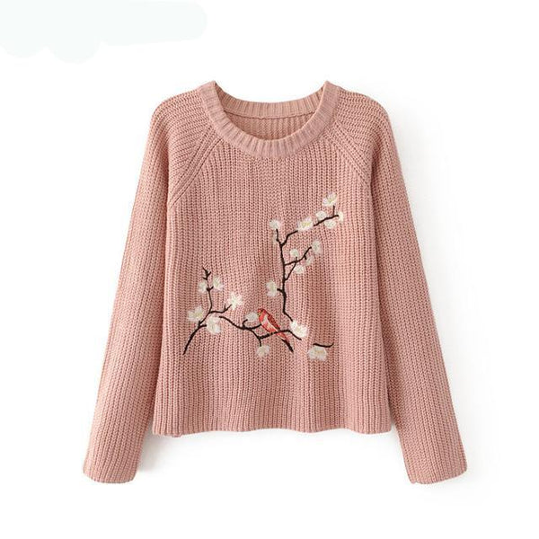 Embroidered Sweater Women Autumn/Winter
